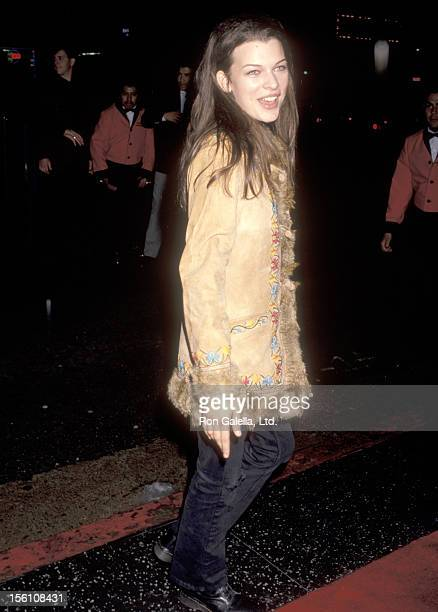 Model/Actress Milla Jovovich attends the 'Medicine Man' Hollywood Premiere on February 5 1992 at El Capitan Theatre in Hollywood California