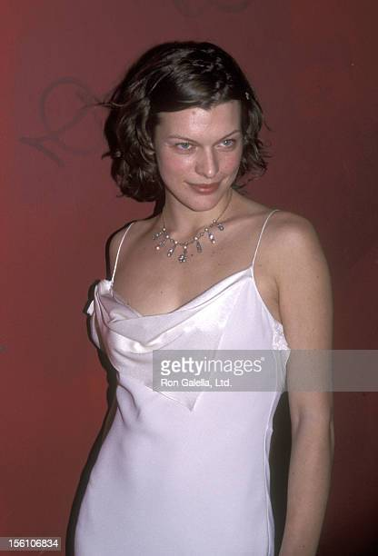 Model/Actress Milla Jovovich attends the 'Millennium Dresses and Auction to Benefit the Ovarian Cancer Research Fund' on December 2 1999 at Roseland...