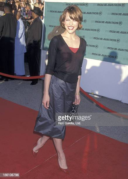 Model/Actress Milla Jovovich attends the Seventh Annual MTV Movie Awards on May 30 1998 at The Barker Hangar at The Santa Monica Air Center in Santa...
