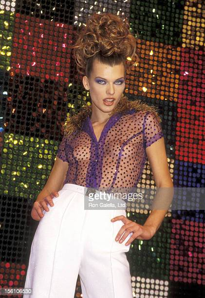 Model/Actress Milla Jovovich attends the Seventh on Sixth Todd Oldham Fashion Show on October 31 1995 at Bryant Park in New York City New York