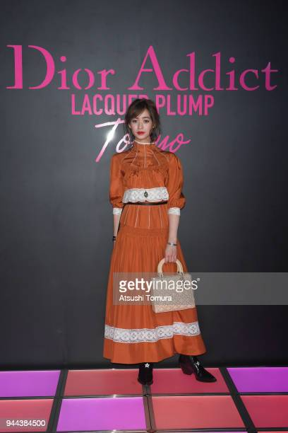 Model/Actress Moeka Nozaki attends the Dior Addict Lacquer Plump Party at 1 OAK on April 10 2018 in Tokyo Japan