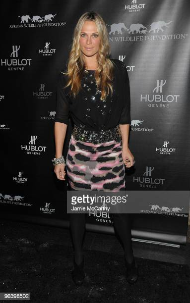 Model/Actress Molly Sims attends the Hublot and African Wildlife Foundation Auction Dinner at American Museum of Natural History African Mammals Room...