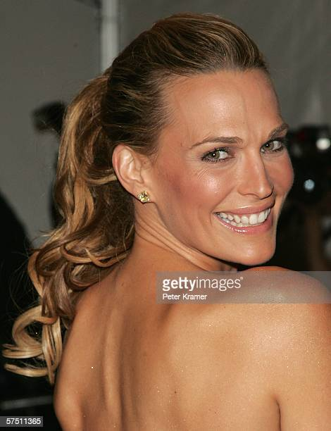 Model/actress Molly Sims attends the Metropolitan Museum of Art Costume Institute Benefit Gala Anglomania at the Metropolitan Museum of Art May 1...