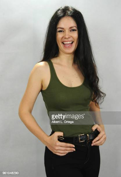 Model/actress Natasha Blasick of the upcoming Jamie Foxx directorial debut of 'AllStar Weekend' pose for a photo on May 20 2018 in Hollywood...