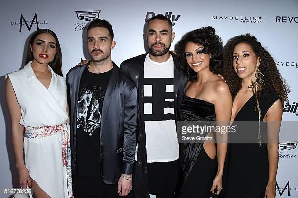 Model/actress Olivia Culpo designer John Targon designer Scott Studenberg actress Nazanin Mandi and guest attend the Daily Front Row 'Fashion Los...