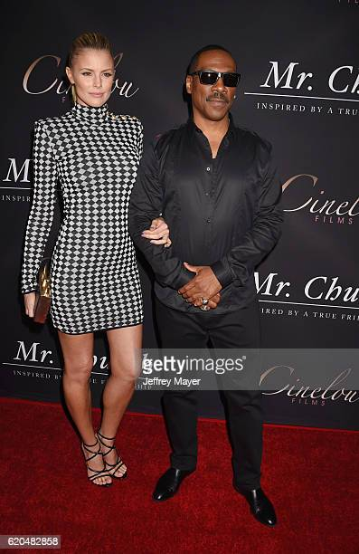 Model/actress Paige Butcher and actor Eddie Murphy arrive at the premiere of Cinelou Releasing's 'Mr Church' at ArcLight Hollywood on September 6...