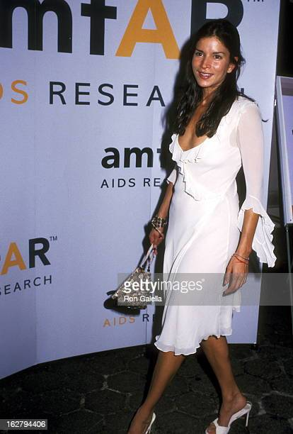 Model/Actress Patricia Velasquez attends the 11th Annual Boathouse Rock Dance Party to Benefit amfAR on June 17 2002 at Tavern on the Green in New...