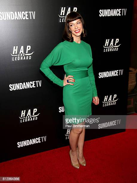 Model/actress Pollyanna McIntosh attends Hap And Leonard Private Premiere Party at Hill Country BBQ on February 25 2016 in New York City
