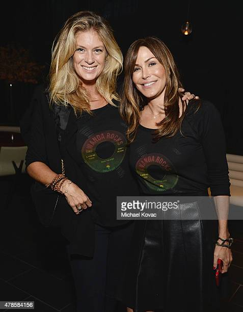 Model/actress Rachel Hunter and OmniPeace's Mary Fanaro attend the W Los Angeles West Beverly Hills and STK Los Angeles Reveal Event at W Los Angeles...