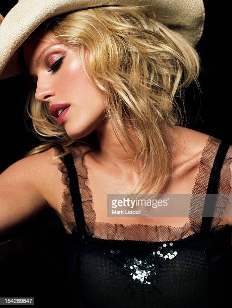 Model/actress Rachel Roberts is photographed for Vanity Fair Italy on April 12 2004 in Los Angeles California