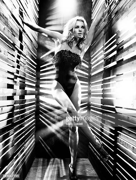 Model/actress Rebecca Romijn is photographed for Ocean Drive Magazine on January 1 2004 in Los Angeles California