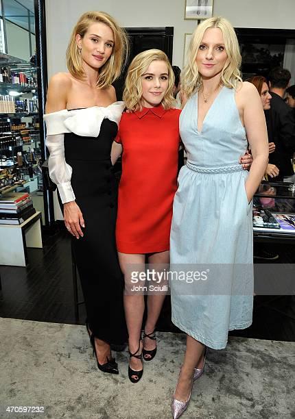 model/actress Rosie HuntingtonWhiteley actress Kiernan Shipka and Laura Brown attend harper by Harper's BAZAAR at Violet Grey with Rosie...