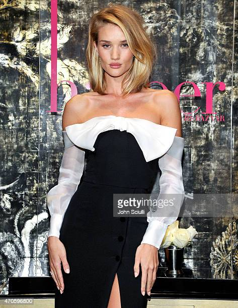 Model/actress Rosie HuntingtonWhiteley attends harper by Harper's BAZAAR at Violet Grey with Rosie HuntingtonWhiteley on April 21 2015 in Los Angeles...