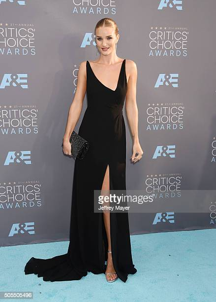Model/actress Rosie HuntingtonWhiteley attends the 21st Annual Critics' Choice Awards at Barker Hangar on January 17 2016 in Santa Monica California