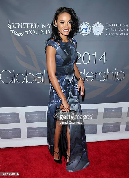 Model/actress Selita Ebanks attends the 2014 Global Leadership Dinner at Cipriani 42nd Street on October 22 2014 in New York City
