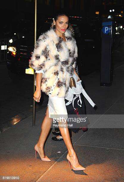 Model/Actress Selita Ebanks is seen in Midtown on April 6 2016 in New York City