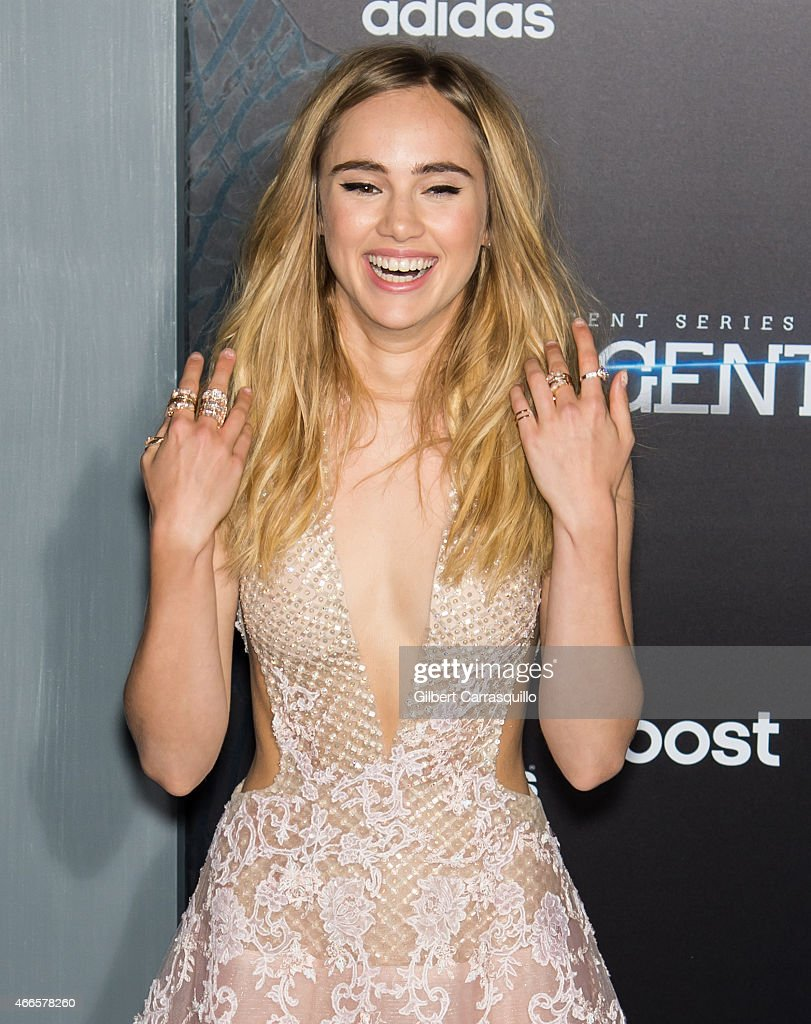 Model/actress Suki Waterhouse attends 'The Divergent Series: Insurgent' New York premiere at Ziegfeld Theater on March 16, 2015 in New York City.
