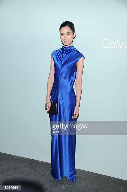 Model/Actress Tao Okamoto attends Calvin Klein platinum label 2014 SS WomenMen fashion show on Thursday October 242013 in Hong Kong