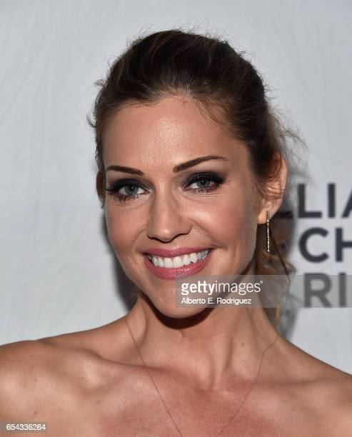Model/actress Tricia Helfer attends The Alliance For Children's Rights 25th Anniversary Celebration at The Beverly Hilton Hotel on March 16 2017 in...