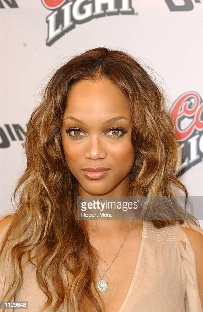 Model/actress Tyra Banks attends the premiere of Halloween Resurrection at the Mann Festival Theater on July 1 2002 in Westwood California The film...