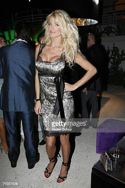 Model/actress Victoria Silvstedt attends the De Grisogono party guestedat the Eden Roc hotel by Mr Fawaz Gruosias part of the 59th International...