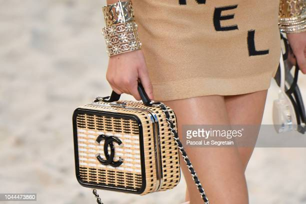 A modelbag detail walks the runway during the Chanel show as part of the Paris Fashion Week Womenswear Spring/Summer 2019 on October 2 2018 in Paris...