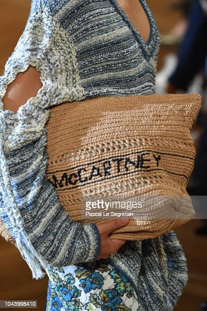 A modelbag detail walks the runway during the Stella McCartney show as part of the Paris Fashion Week Womenswear Spring/Summer 2019 on October 1 2018...