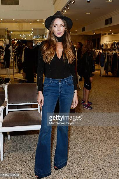 Model/blogger Courtney Sixx attends Sheri Bodell's Fall 2016 collection viewing at Kyle by Alene Too on April 7 2016 in Beverly Hills California