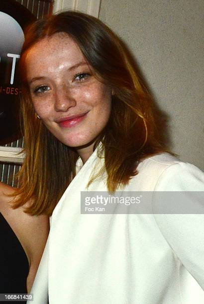 Model/blogger Milagros Schmoll attends 'Les Racines De La Ville' Aramy Machry' s Photo Exhibition Preview At 'Le Plac Art' Gallery on April 17 2013...