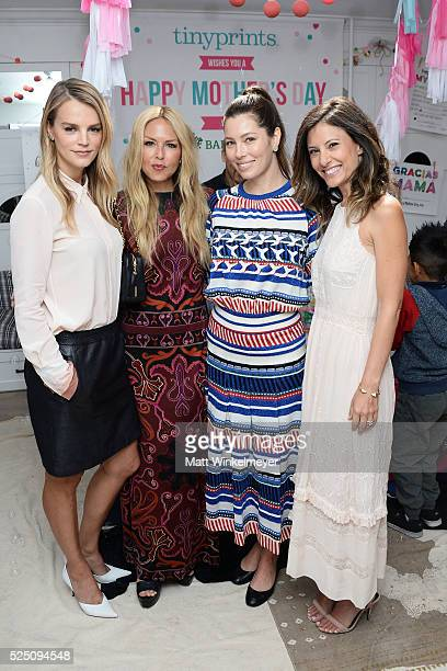 Model/copresident of Baby2Baby Kelly Sawyer Patricof designer Rachel Zoe actress Jessica Biel and copresident of Baby2Baby Norah Weinstein attend the...