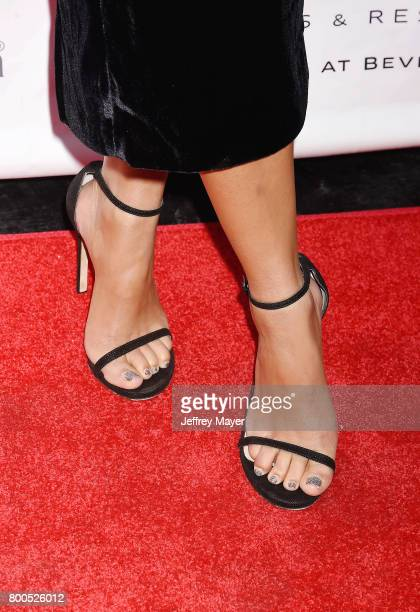 Modeldesigner Camila Alves McConaughey shoe detail at the BELLA Los Angeles Summer Issue Cover Launch Party at Sofitel Los Angeles At Beverly Hills...