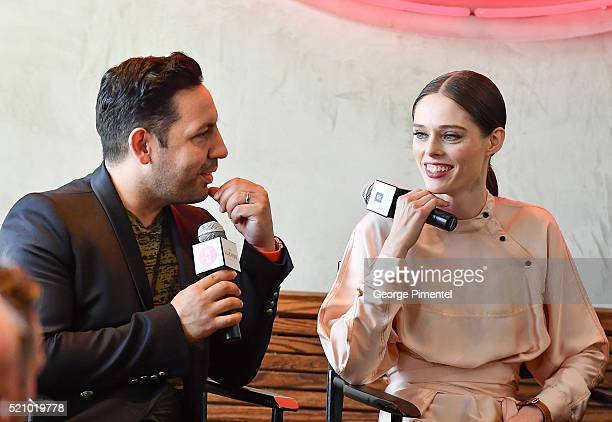 """Model/Designer Coco Rocha and husband James Conran launch the Line """"CO+CO"""" In Canada at Lukee Restaurant on April 13, 2016 in Toronto, Canada."""