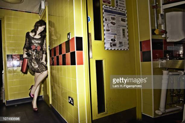 Model/designer Daisy Lowe poses for a photo shoot for Madame Figaro on July 15 2010 Published image Figaro ID 098089004 Dress by Daisy Lowe for...