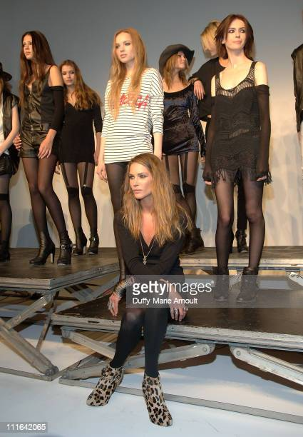 Model/Designer Erin Wasson with models at the Erin Wasson RVCA presentation and party during MercedesBenz Fashion Week Fall 2009 at Milk Studios...