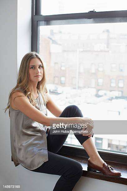 Model/designer Lauren Bush poses for Madame Figaro on April 24 2012 in New York City PUBLISHED IMAGE Figaro ID 104139009 CREDIT MUST READ John...