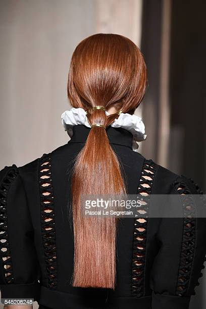 A modeldetail walks the runway during the Valentino Haute Couture Fall/Winter 20162017 show as part of Paris Fashion Week on July 6 2016 in Paris...