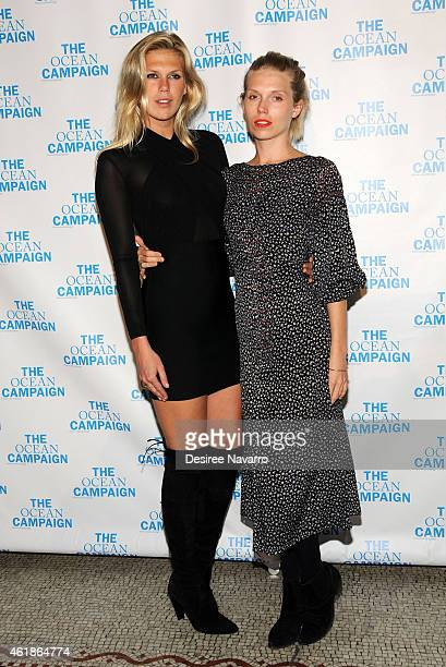 Model/DJ Alexandra Richards and model Theodora Richards attend The Ocean Campaign Launch Gala at Capitale on January 20 2015 in New York City