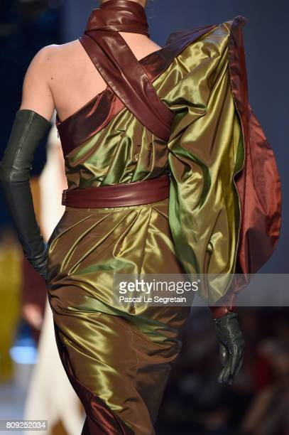 A modeldress detail walks the runway during the Jean Paul Gaultier Haute Couture Fall/Winter 20172018 show as part of Haute Couture Paris Fashion...