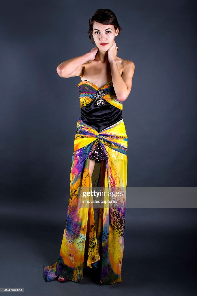 8dbd7f64 Modeling A Fashionable Tie Dye Dress Stock Photo | Getty Images