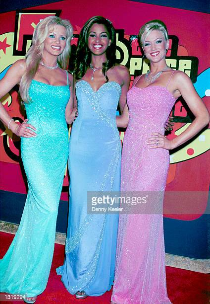 Modeling teams Nikki Ziering Claudia Jordan and Heather Kozar pose at CBS Studios to celebrate Bob Barker''s 30th anniversary as host of 'The Price...