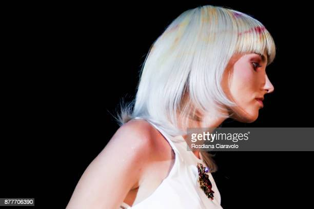 Modelis seen during the Alfaparf Milano Be Italian by Genny DÕAuria show at On Hair By Cosmoprof Autumn Edition on November 19 2017 in Bologna Italy