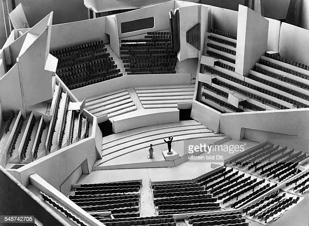 Modell der Philharmonie 1957