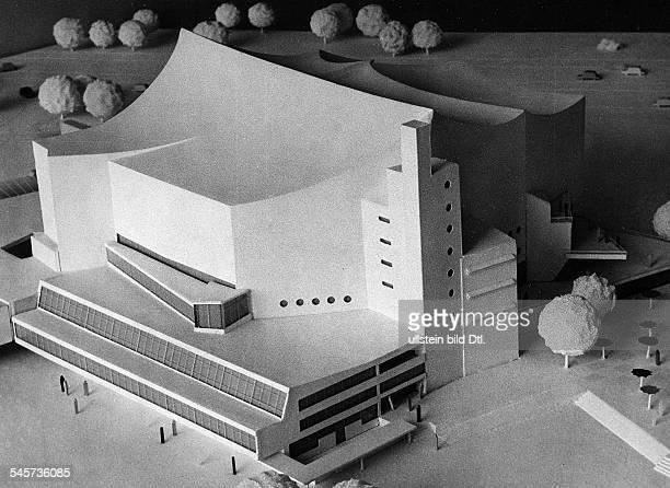 Modell der Philharmonie 1959