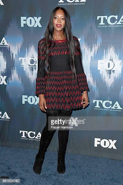 Modell Naomi Campbell arrives at the 2017 Winter TCA Tour FOX AllStar Party at Langham Hotel on January 11 2017 in Pasadena California