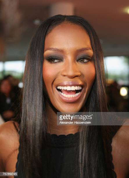 Modell Naomi Campbell arrives at the GQ fashion show during the GQ style night at the Wappenhalle July 9, 2007 in Munich, Germany.