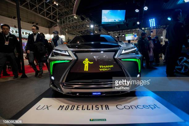 UX Modellista and TRD show in a joint stand the concept model Lexus UX MODELIST CONCEPT adopted a display grid with various lights and images flowing...