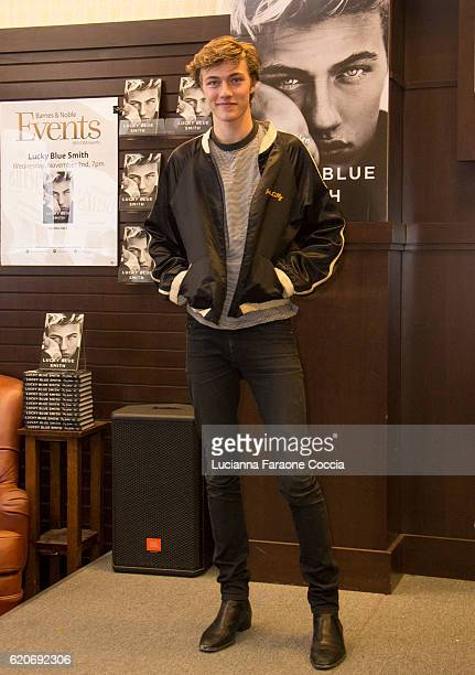Model/musician Lucky Blue Smith poses for portrait at his book signing of Stay Golden at Barnes Noble at The Grove on November 2 2016 in Los Angeles...
