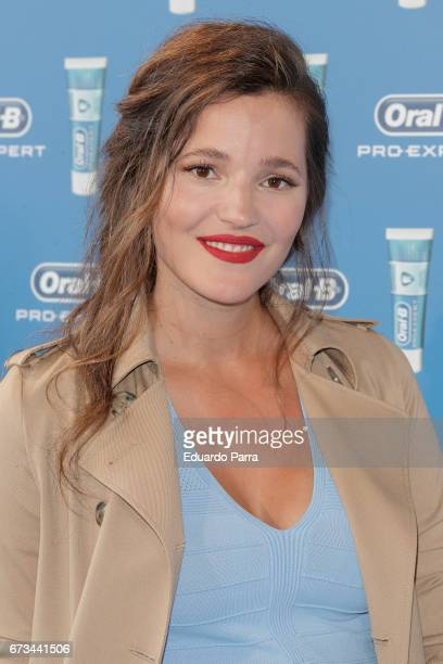 Modelo Malena Costa attends the 'OralB' photocall at The Principal hotel on April 26 2017 in Madrid Spain