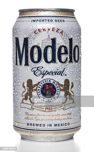 modelo special beer can - mexican beer stock pictures, royalty-free photos & images