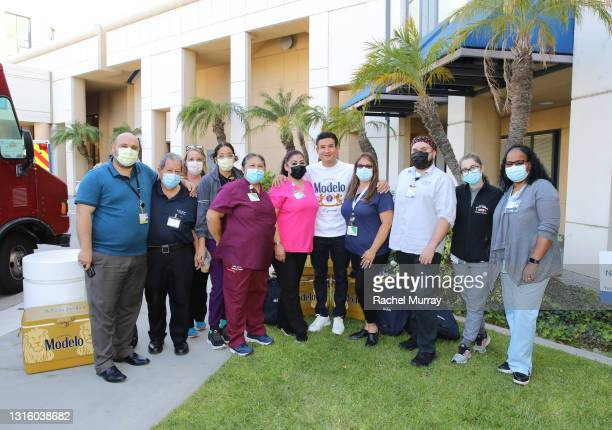 Modelo teamed up with Mario Lopez to thank healthcare workers at Providence Saint Joseph Medical Center in Burbank, Calif., and recognize the hard...